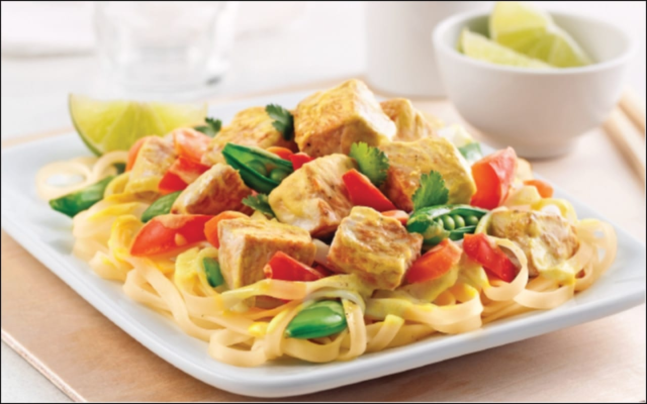 Turkey Curry with Asian Noodles