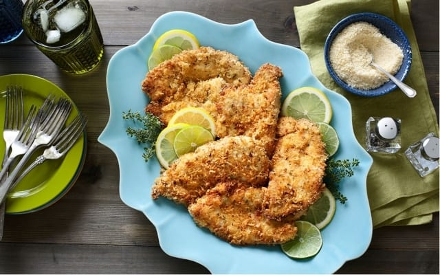 Crispy turkey cutlets