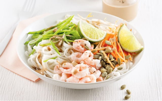Shrimp Salad with Rice Noodles