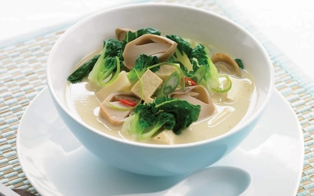 Bok Choy and Tofu Coconut Soup