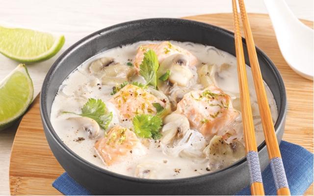 Salmon Coconut Soup