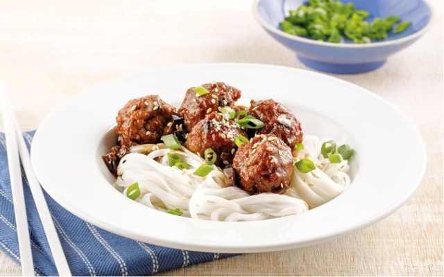 Asian Meatballs with Shiitake Mushrooms