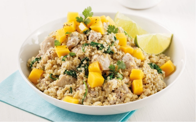 Mango Coco Chicken and Quinoa
