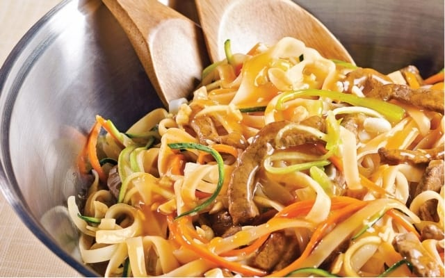 Asian Noodles with Veal Stir-Fry