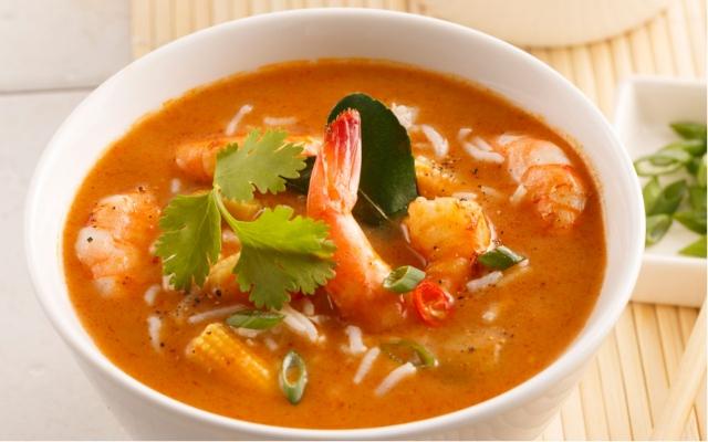 Soupe thaïe aux crevettes